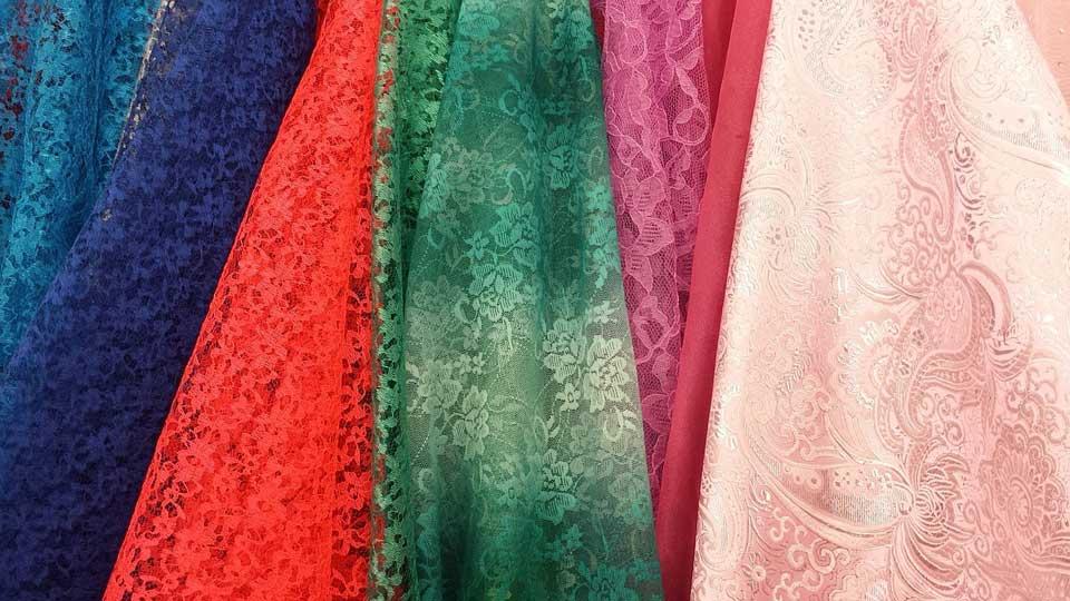 Rendas para vestidos de festa