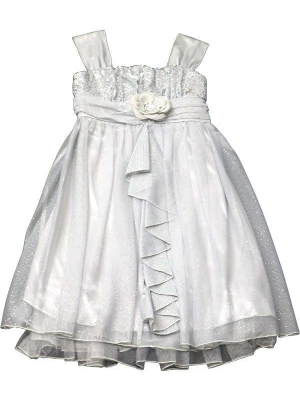 Vestido de festa infantil importado Sequin Hearts